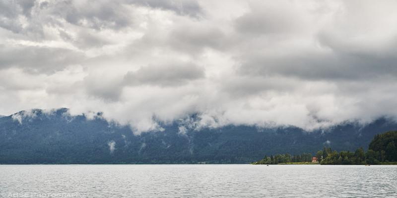 walchen-see-bayern-germany-lake-clouds-water-mountains-church